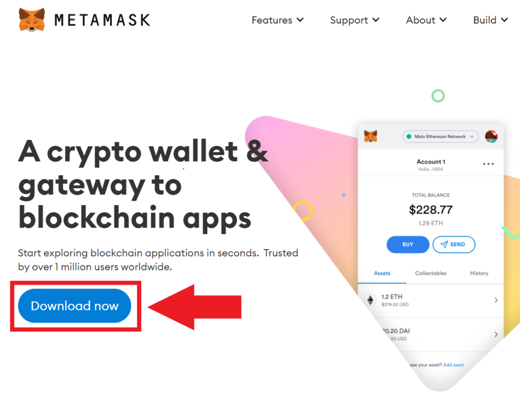 Descargar la extension de Metamask